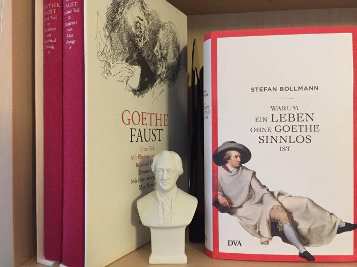 """image21(Links meine Schmuckausgabe von """"Faust"""", rechts das Buch von Stefan Bollmann, Foto: Privat)"""
